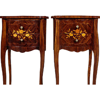 Two Neo-Rococo Lowboys/Bedside Cabinets - ca. 1900