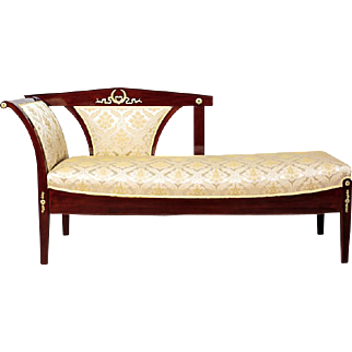 Beautiful Neo-Empire Chaise Longue 18/1900