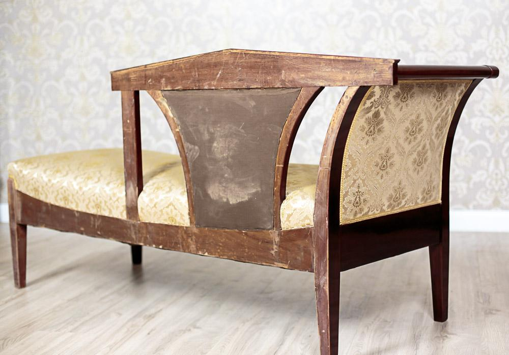 Beautiful neo empire chaise longue 18 1900 from antique - Changer toile chaise longue ...