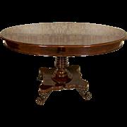 Mahogany Living Room Table from 19th Century