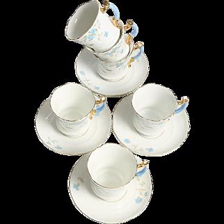Tea Cups from the Carl Tielsch (Altwasser - Stary Zdrój) Manufactory - circa 1875