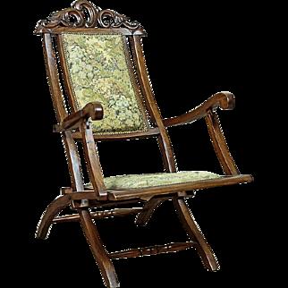 Prewar, Wooden Armchair/Deckchair - early 20th Century