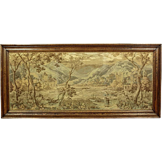 French Tapestry in Oak Frame approx. 1930