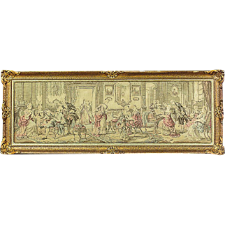 Tapestry with a Genre Scene - ca. 1920
