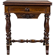 Antique Sewing Table/Card Table -- the 2nd Half of the 19th Century