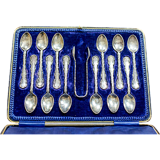 English, Silver Teaspoons from 1906 - Sheffield's maker Henry Wigfull