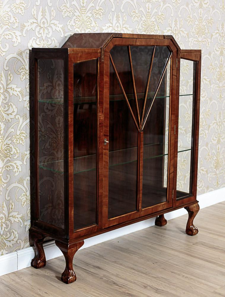 a signed art deco vitrine ca 1920 glasgow from antique. Black Bedroom Furniture Sets. Home Design Ideas