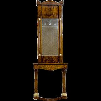 Biedermeier Mirror with a Console 1890
