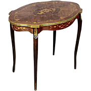 Coffee Table with Intarsia beginning of 20th Century