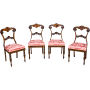 4 Eclectic Chairs from the End of the 19th c.