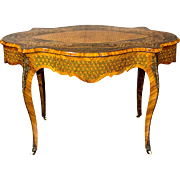 Neo-Baroque, Richly Intarsiated Desk