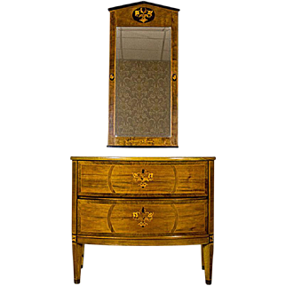 Dresser with a Mirror from the Turn of the 19th and 20th Centuries