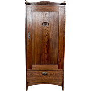 Oaken Art Nouveau Linen Cabinet -- Circa 1910/20
