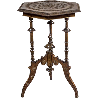 Carved Side Table from the 19th Century