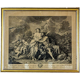 18th-Century Graphic with a Mythological Scene