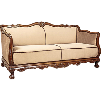 Eclectic Couch from the beginning of the 20th Century