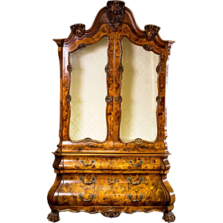 Decorative Cabinet with Intarsia from Germany beginning of 20th Century