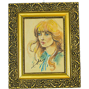 A Portrait of a Young Girl, Pastel Painting -- The 80s