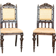 Carved, Neo-Renaissance Chairs -- 1870/1890