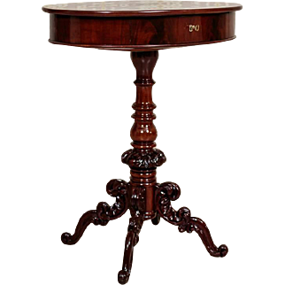 Mahogany Sewing Table from ca. 1880 - Northern Europe