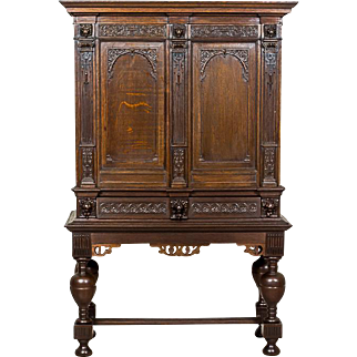Dutch, Oaken Cabinet from the 18th/19th Century