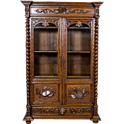 French, Oaken Bookcase ca. 1870