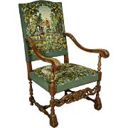 Tapestry Armchair/Throne, ca. 1940