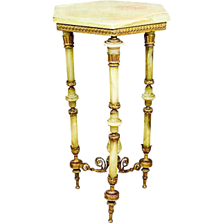 Museum Pedestal Made of Green Onyx