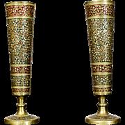 A Pair of Brazen Vases with Glaze -- 1960/70