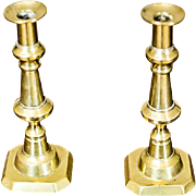 A Pair of Brazen Candle Holders -- Circa 1930/40
