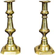 Two Brazen Candle Holders