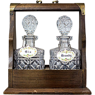Container with Decanters for Alcohol, Circa 1920