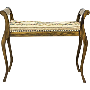 Gondola Bench Covered With a Tapestry
