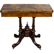 Antique Card Table from the 19th Century