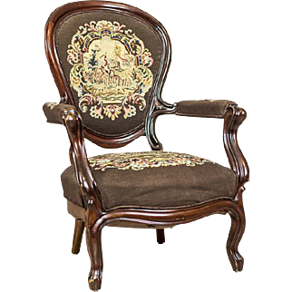 Armchair Upholstered with a Tapestry