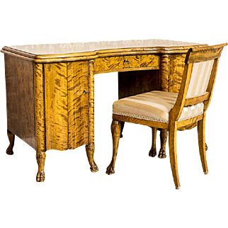 Desk with a Chair from the Interwar Period