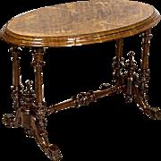 Oval Victorian Table -- Circa 1850