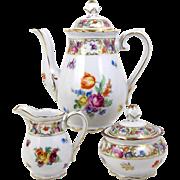 Schumann Empress Mini Teapot Tea Set Coffee Set Dresden Flowers 1945-1952