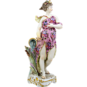 "Samson & Co Hand Painted Figurine 10 3/4"" Meissen Style Circa 1940 Paris France"