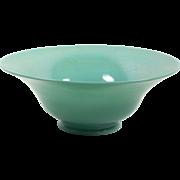 "Northwood Stretch Glass Bowl Jade Blue 10 3/4"" Iridescent Blue Green 1916-1925"