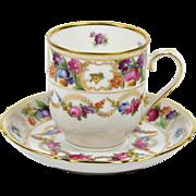 Schumann Demitasse Tea Cup Dresden Swags 3 oz US Zone 1945-1952