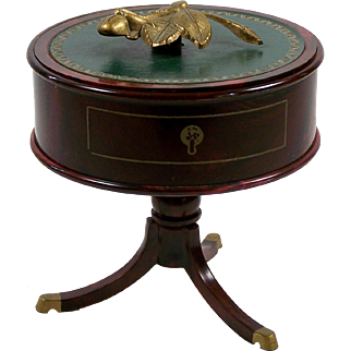 Doll Table w/ Storage Victorian Style Center Table Trinket Box Faux Wood