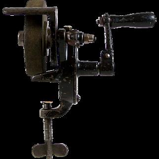 Clamp Style Grinding Wheel Bench Top Hand Crank Grinder Sharpener Tool