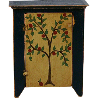 Dollhouse Jelly Cupboard Cabinet Paint Decorated Miniature Furniture