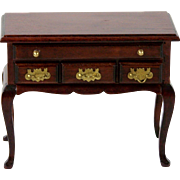Dollhouse Vanity Dressing Table or Desk Queen Anne 4 Drawer Furniture 1:12 Scale