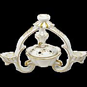 Dresden Candle Holder Flower Frog Candelabra 4 Arm Centerpiece