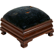 Bench-made Chippendale Pin Cushion Mahogany Doll Furniture Miniature Foot Stool 1938