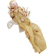 """Antique Miniature Bisque Baby Doll Tiny 2 1/2"""" Jointed Arms & Legs Germany"""