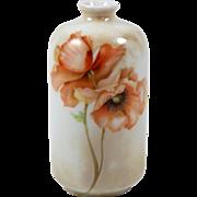 "Vintage RS Germany Miniature Vase Poppy Flower Orange Poppies 4"" 1904-1938"