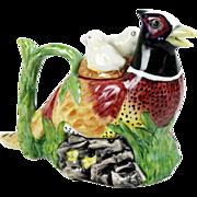 Crown Dorset Bone China Personal Teapot Figural Pheasant 8 oz Staffordshire